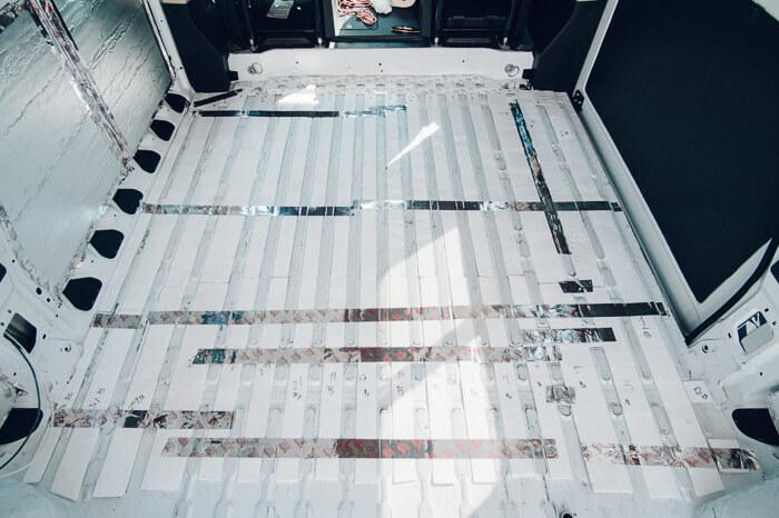 floor insulation promaster campervan conversion