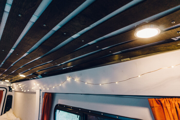 lights and wiring promaster ceiling installation