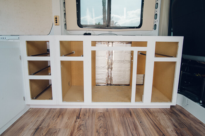 promaster campervan diy bed build