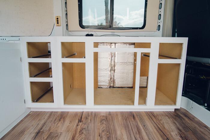 promaster campervan diy bed build