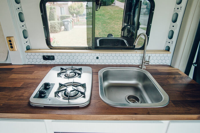 promaster campervan kitchen conversion