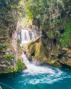 san luis potosi waterfalls el puente de dios tamasopo mexico