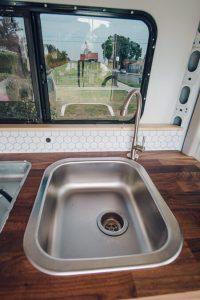 sink installation promaster campervan conversion