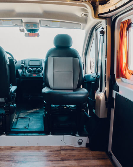 swivel seat ram promaster conversion