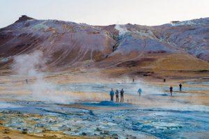 Iceland Namafjall Hverir Fumarole and Mud Pot Geothermal Area