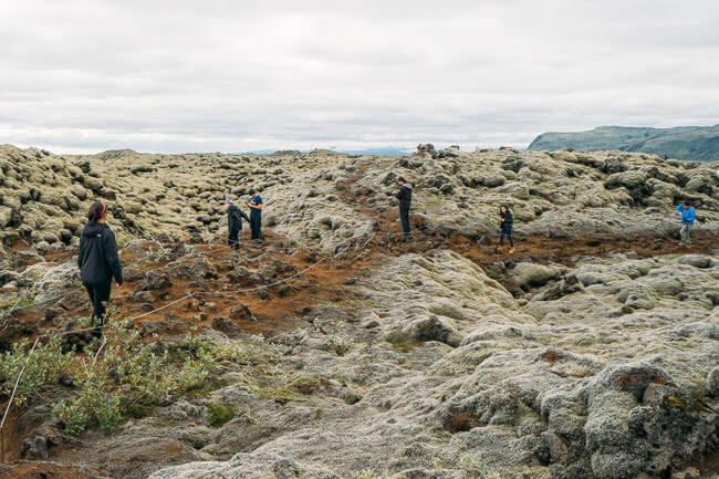 Iceland Scenic Green Lava Walk