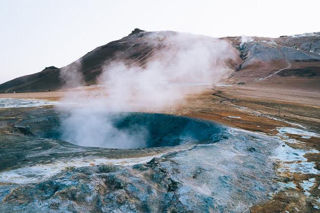 Namafjall Hverir Fumarole and Mud Pot Geothermal Area Iceland
