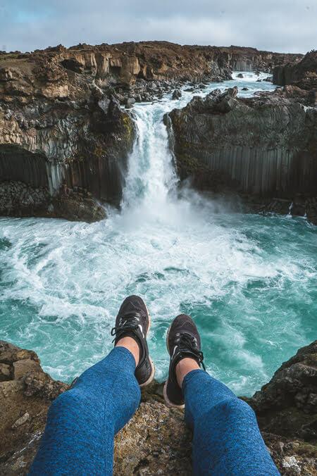 iceland Aldeyjarfoss waterfall summer