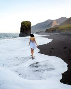 iceland Fauskasandur black sand beach