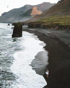 iceland Fauskasandur black sand beach summer