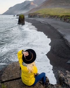 iceland Fauskasandur black sand beach wallpaper