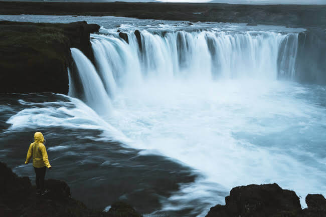 iceland Goðafoss waterfall summer