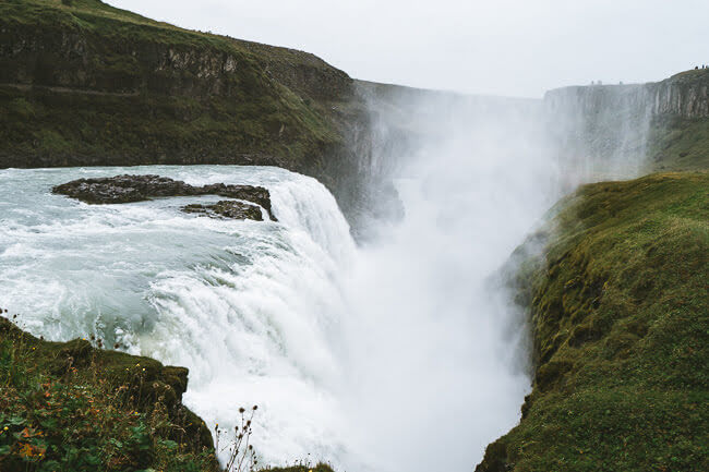 iceland Gullfoss waterfall golden circle