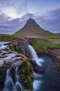 iceland Kirkjufell Kirkjufellsfoss Waterfall Snæfellsnes peninsula