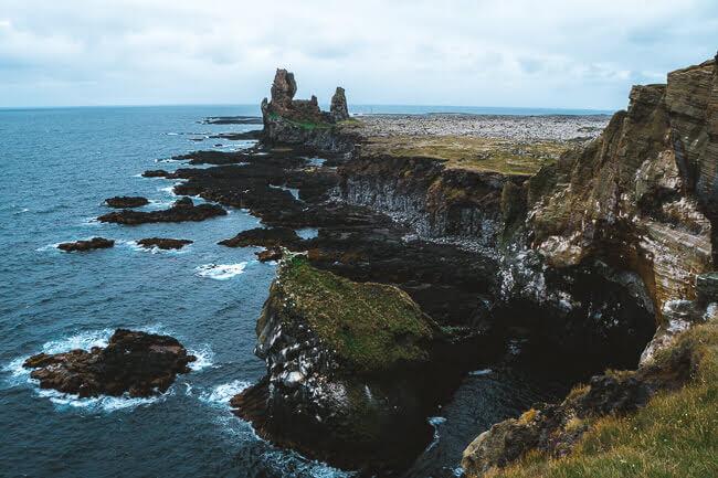 iceland Lóndrangar cliffs rocks Snæfellsnes peninsula