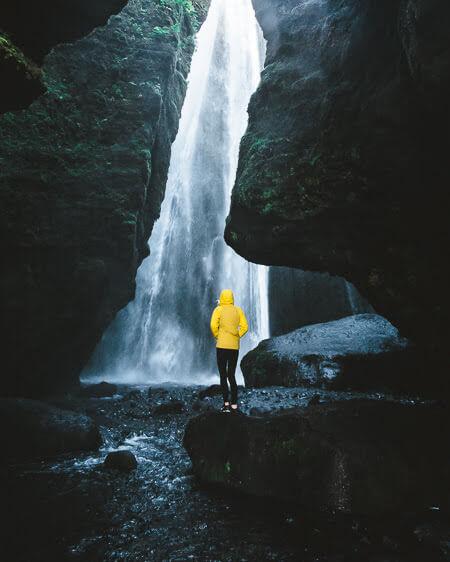 southern iceland Gljúfrabúi Waterfall