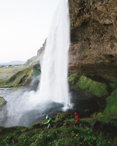 southern iceland Seljalandsfoss Waterfall