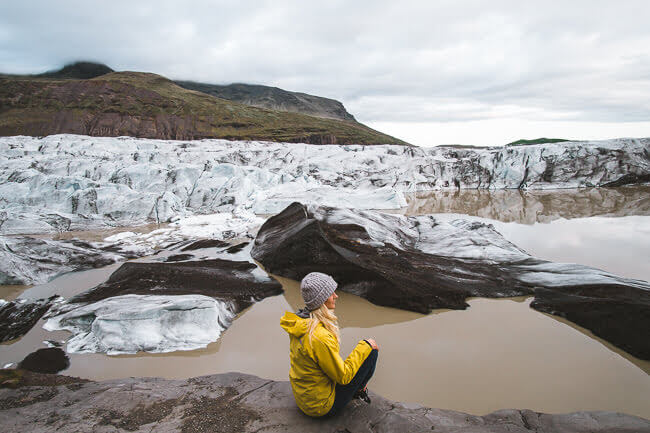 svínafellsjökull glacier lake Iceland
