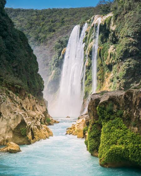 tamul waterfall must see san luis potosi mexico
