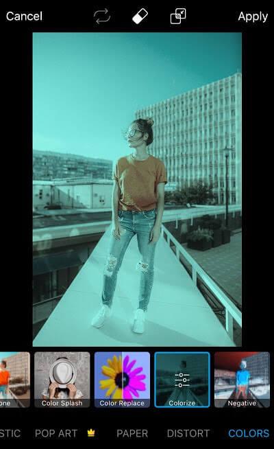 Picsart Colorize effect