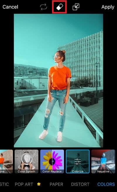 Picsart Colorize tool