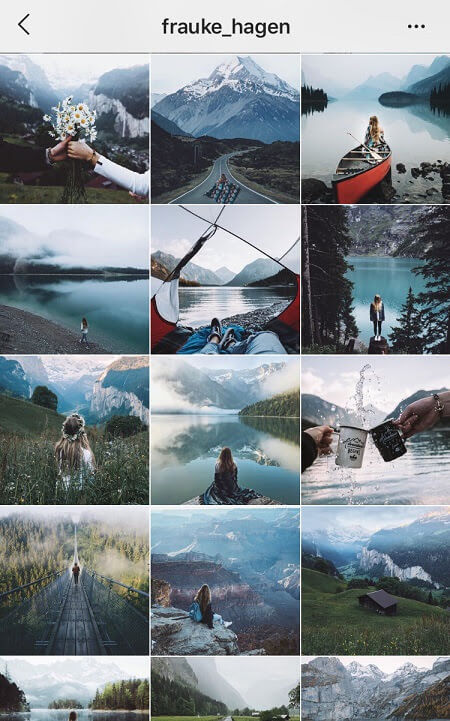 aesthetic feed dark instagram theme
