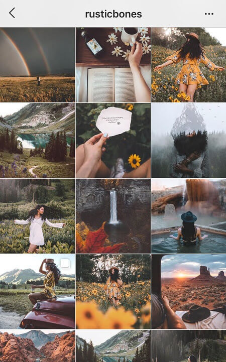 aesthetic feed rustic vintage instagram theme