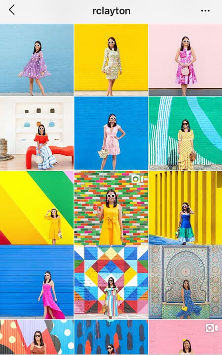 artsy instagram feed color pop instagram feed