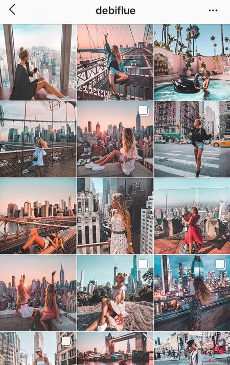 best instagram feeds pink and blue instagram theme