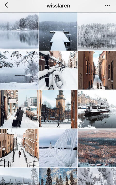 best instagram themes winter instagram theme