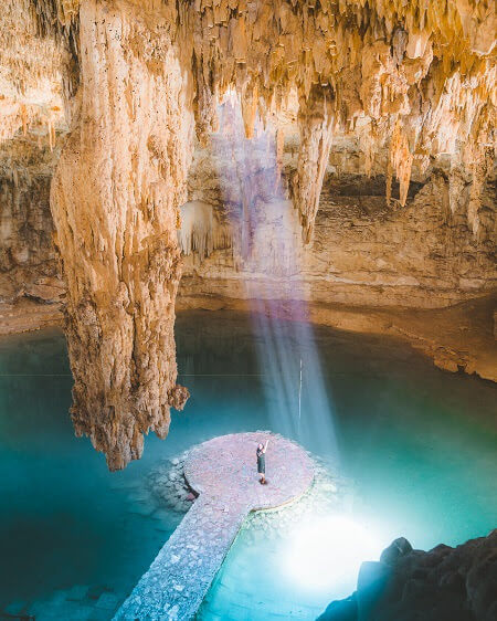 best places to go in Mexico suytun cenote