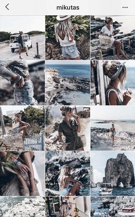 different instagram themes greyscale instagram fashion theme