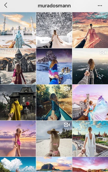 good instagram feed ideas repetition theme
