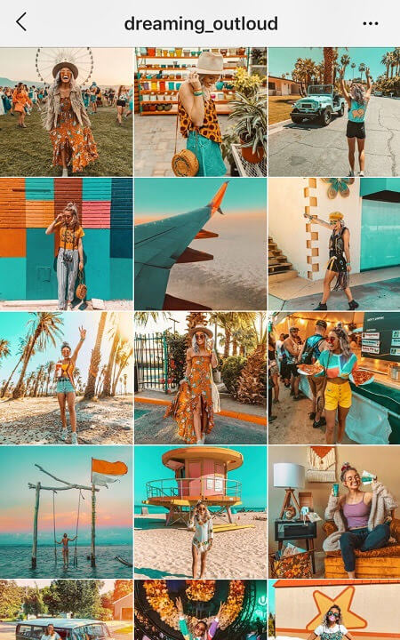 good instagram themes teal and orange instagram feed