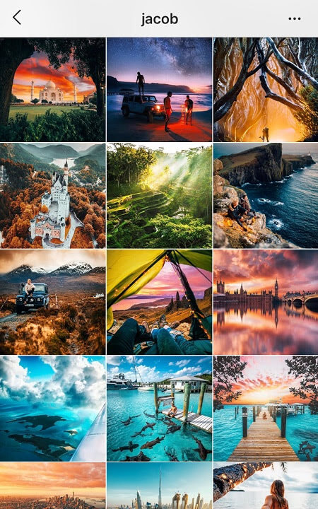 ig feed goals colorful instagram theme