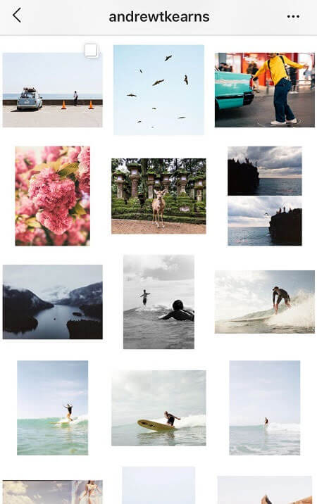 instagram layout ideas mix and match border instagram theme
