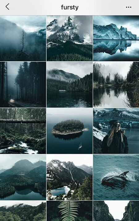 instagram theme ideas dark blue instagram theme