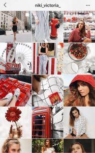 instagram theme ideas red instagram theme