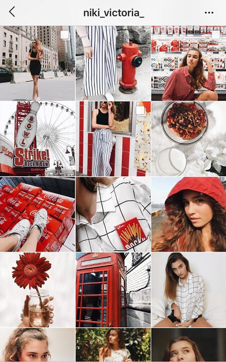 instagram theme ideas red instagram theme