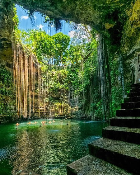 ik kil cenote by chitzen itza yucatan mexico photo by @matheusbribeiro