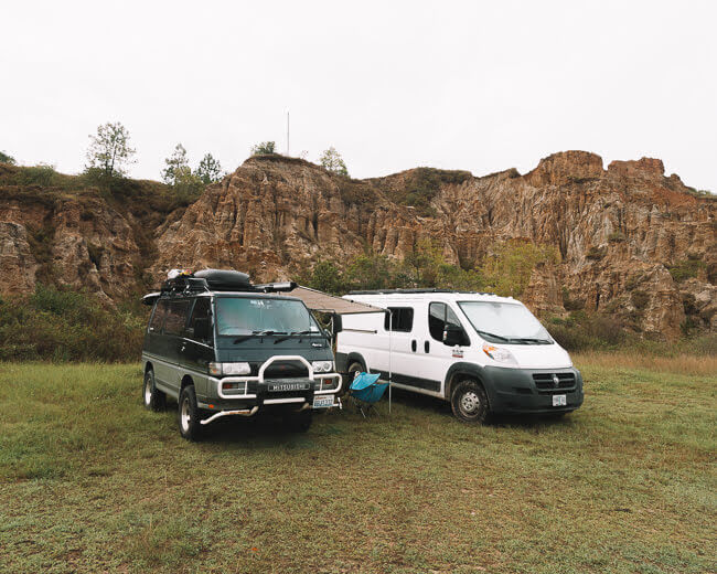 van life tips where to park traveling in a camper van