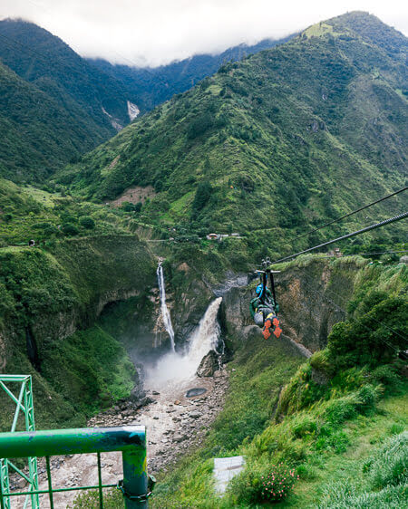 Things To Do in Banos Ecuador Agoyán Waterfall Zip Line