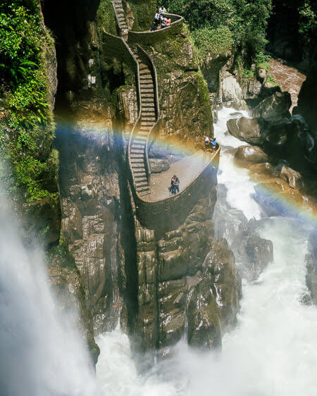 Things To Do in Banos Ecuador Hike Pailon Del Diablo Waterfall