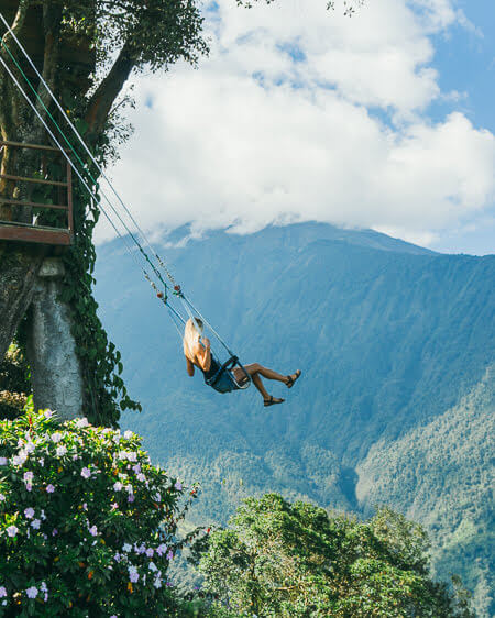 Things To Do in Banos Ecuador La Casa Del Arbol Swing At The End Of The World