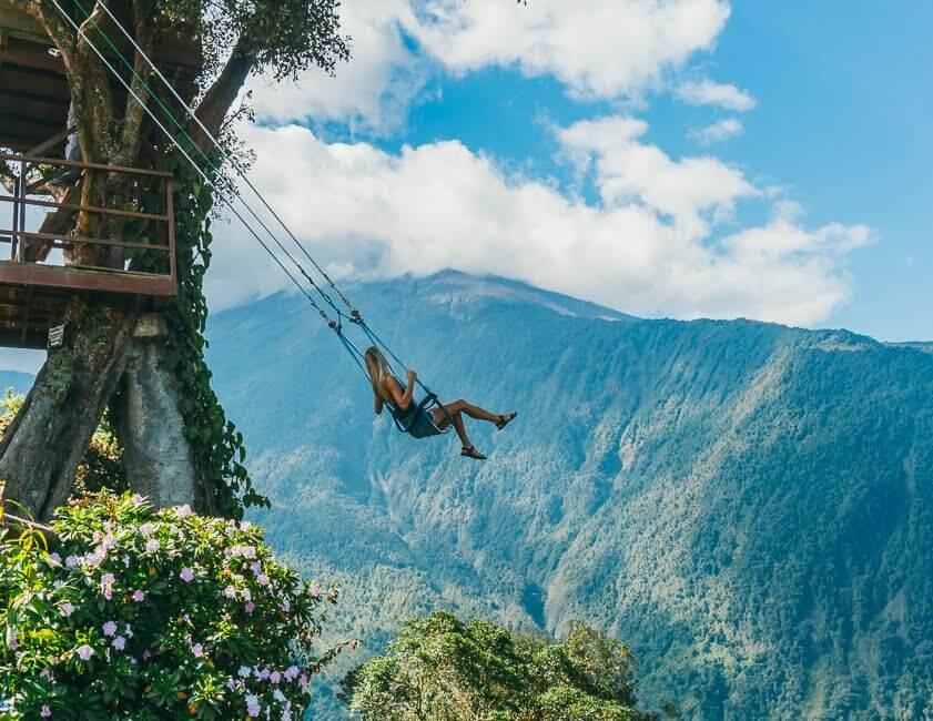 Top Things To Do In Banos Ecuador La Casa Del Arbol Giant Swing At The End Of The World