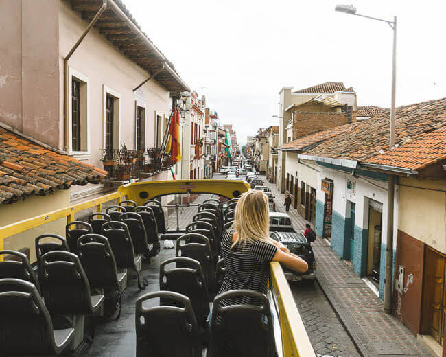 Things to do in Cuenca Ecuador double decker bus tour