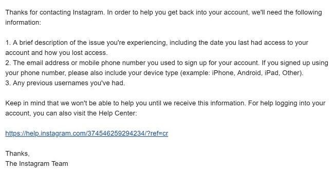 how to report hacked and deleted instagram account to instagram support