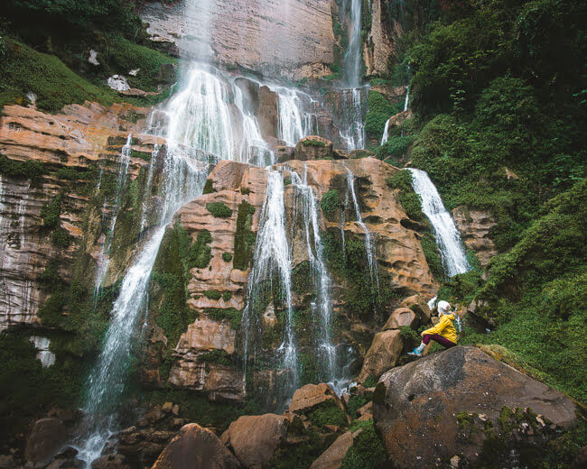 Pabellon Waterfall In Cuispes North Peru Chachapoyas