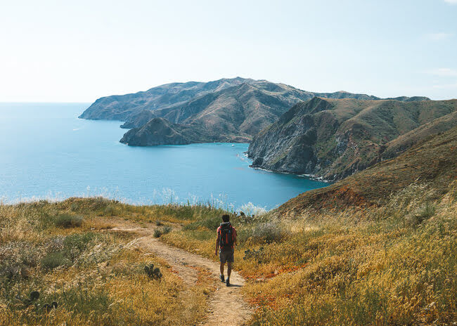 Backpacking Trans Catalina Trail Catalina Island California