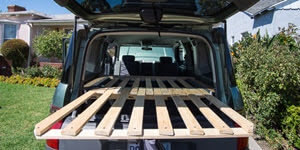 honda element camper car conversion